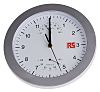 RS PRO Silver Wall Clock, 250mm
