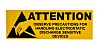 RS PRO Yellow Vinyl ESD Label, Attention-Text 100
