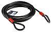 ABUS Tosløjfet kabel, 5m, Stål