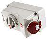 MENNEKES Switchable IP44 Industrial Interlock Socket 3P+E, Earthing Position 6h, 16A, 400 V