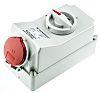 MENNEKES Switchable IP44 Industrial Interlock Socket 3PN+E, Earthing Position 6h, 16A, 400 V