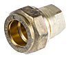 RS PRO 15mm End Stop Brass Compression Fitting