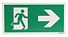 Plastic Fire Exit Right Non-Illuminated Emergency Exit Sign