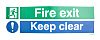 RS PRO Vinyl Fire Safety Label, FIRE EXIT