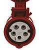 MENNEKES IP44 Red Cable Mount 5P Industrial Power