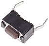 Brown Tactile Switch, Single Pole Single Throw (SPST) 50 mA @ 12 V dc