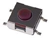 Brown Button Tactile Switch 50 mA @ 12 V dc