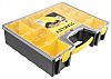 Stanley Works 8 Cell Black, Yellow PC, PP, Adjustable Compartment Box, 105mm x 423mm x 334mm