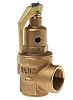 Nabic Valve Safety Products 3bar Pressure Relief Valve With Female BSP 1 in BSP Female Connection and a BSP 1 Exhaust