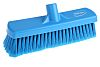 Vikan Broom, Blue with PET Bristles for Dry