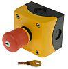 Eaton RMQ Titan, Red/Yellow/Black, Key Reset 38mm Round
