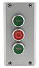 Eaton Momentary Enclosed Push Button - 3NO/3NC, Plastic,