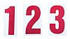 RS PRO Red Alphanumeric Lettering Label, 50mm