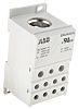 Entrelec Distribution Block, 2 Way, 95-185 inputmm², 400A, 600 V, Grey