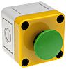 Modular Switch Body, IP65, Green, Wall Mount, Momentary