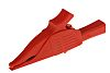 Staubli Crocodile Clip, Brass Contact, 19A, Red