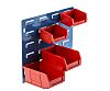 RS PRO PP Louvre Panel Storage Unit Louvred Panel, 50mm x 100mm, Blue, Red