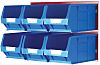RS PRO PP Louvre Panel Storage Unit Louvred Panel, 300mm x 455mm, Blue, Red