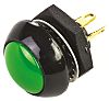Otto Double Pole Double Throw (DPDT) Momentary Push Button Switch, Panel Mount, 28V dc
