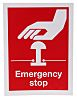 RS PRO Vinyl Red Safe Conditions Label, Emergency