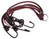 RS PRO 6 Hooks Bungee Cord, 800mm Long,