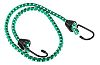 RS PRO 2 Hooks Bungee Cord, 762mm Long,