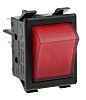 ZF Illuminated Double Pole Single Throw (DPST), On-None-Off Rocker Switch Panel Mount