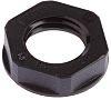 Lapp Black Fibreglass PA Cable Gland Locknut, M12
