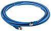 Cat6 RJ45 UTP patch cable, blue, 5m