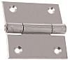Pinet Raw Stainless Steel Square Hinge with a