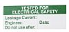 RS PRO Pre-Printed Adhesive Label-Tested For Electrical Safety-.