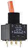 NKK Switches Kippschalter 2-polig Rastend, 100 mA @ 28 V dc, beleuchtet, IP 65