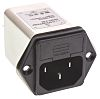 Schaffner,2A,250 V ac Male Panel Mount IEC Filter