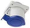 RS PRO IP44 Blue Panel Mount 2P+E Industrial