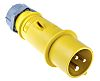 Mennekes AM-TOP Series, IP44 Yellow Cable Mount 2P+E