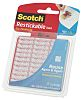 3M Restickable Transparent Double Sided Adhesive Square, 25.4mm