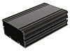 Caja para instrumentación RS PRO de Aluminio Anodizado Negro, ventilada, 125 x 81.4 x 40mm