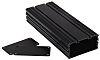 RS PRO Black Anodised Aluminium Project Box, 200