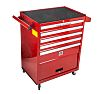RS PRO 5 drawer Steel WheeledTool Chest, 860mm