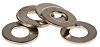 Nickel Plated Brass Plain Washer, 0.5mm Thickness, M3