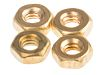 RS PRO Brass, Hex Nut, M2