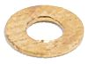 Nickel Plated Brass Plain Washer, 0.3mm Thickness, M2