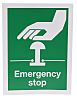 RS PRO Vinyl Green/White Safe Conditions Sign, Emergency