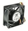 ARX, 24 V dc, DC Axial Fan, 60 x 60 x 25mm, 33.35m³/h, 4.32W