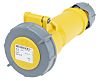 MENNEKES, AM-TOP IP67 Yellow Cable Mount 3P Industrial Power Socket, Rated At 16.0A, 110.0 V