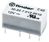 Finder, 12V dc Coil Non-Latching Relay DPDT, 2A