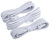 RS PRO White 3m Telephone Extension Cable Male