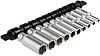 RS PRO 10 Piece Socket Set, 1/4 in Square Drive