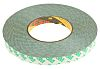 3M 9087 White Double Sided Plastic Tape, 15mm x 50m