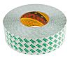 3M 9087 White Double Sided Plastic Tape, 50mm